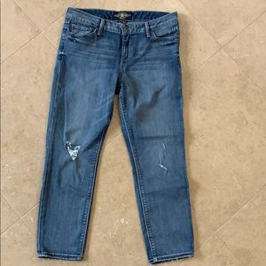 Lucky Lolita Crop Jeans 8/29 Distressed
